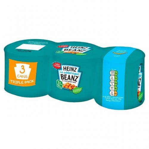 Heinz beanz No Added Sugar Triple Pack (200g) 65p @ Ocado