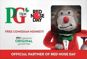 PG Tips 160's with Limited Edition Red Nose Monkey £4.50 @ Sainsbury's