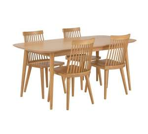 Dining table 4 chairs was £399.99 now £136 Inc delivery using code in comments @Argos