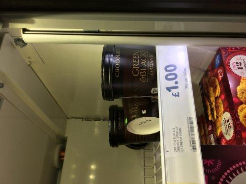Green & Blacks organic Chocolate ice cream £1 instore @ Tesco