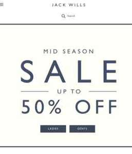Jack Wills upto 50% mid season sale now on