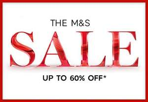 Now upto 60% off M&S sale