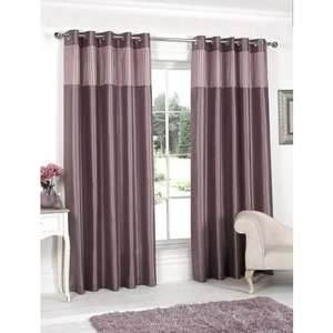 "Pleated Top Border Fully Lined Curtain (Various sizes including 90""by 90"") 4 Colours £1 @ B&M In store"