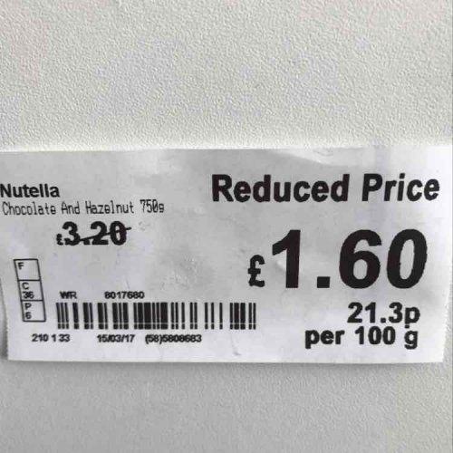 Nutella 750gram jar - £1.60 instore @ ASDA