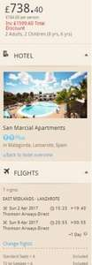 From East Midlands: Easter School Holidays for some 2nd-9th April - 1 Week in Lanzarote based on 2A 2C inc luggage & transfers £184.60pp @ Thomson