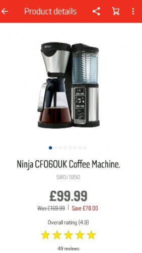 Ninja Coffee Bar £99.99 @ Argos