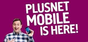 Sim Only 30 Day Plan 2000 Minutes + Unlimited Texts + 5GB 4G Data @ plusnet Mobile £12 Month