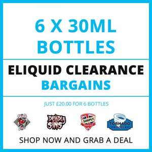 6 x 30ml Bottles of Premium Eliquid ( various flavours ) £20 delivered @ Fresh Mist