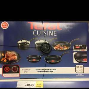 Tefal Cuisine 5 pan set / non stick cookware - £40 instore @ Tesco (Barrow in Furness)