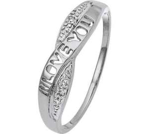 9ct White gold 'I love you' crossover ring was £99.99 now £23.99 @ Argos order instore