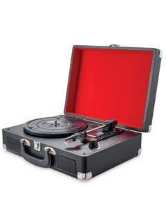 "Retro Vintage 3 Speed Suitcase Turntable Aux & USB Sockets 7 8 10 12"" Compatible +Free P&P Ebay / dmtrading2011 £14.99"