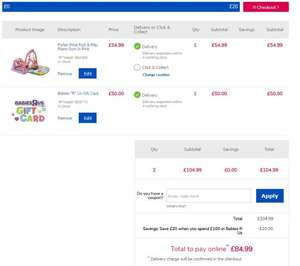 Babies r us / Toys r us £100 gift vouchers for £80