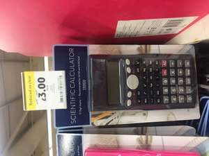 Tesco scientific calculator reduces to £3 instore.