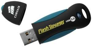 Corsair Voyager 128GB USB 3.0 Flash Drive 190 MB/s Read 60 MB/s Write £23.74  mymemory with code