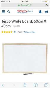 Whiteboard for £2.50 online at Tesco Direct - free c&c