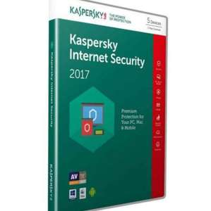 Starts 17/03/2017 12:20 am Kaspersky Internet Security 2017 (10 Devices, 1 Year) Retail Box (PC/Mac/Android) £20.99 @ Amazon