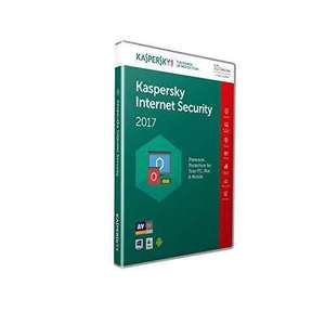 Kaspersky Internet Security 2017 (10 Devices, 1 Year) with Free delivery £20.99 @ Amazon Lightning deal