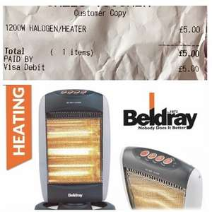 Beldray Halogen Heater RRP £34.99 NOW £5 at B&M NATIONAL DEAL