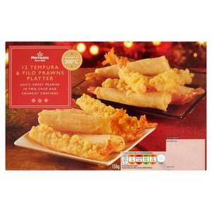 Morrisons 12 Tempura & Filo Prawns 138g was £2.00 now 50p @ Morrisons