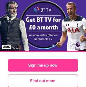 BT TV for no monthly cost and refunded activation fee @ BT TV
