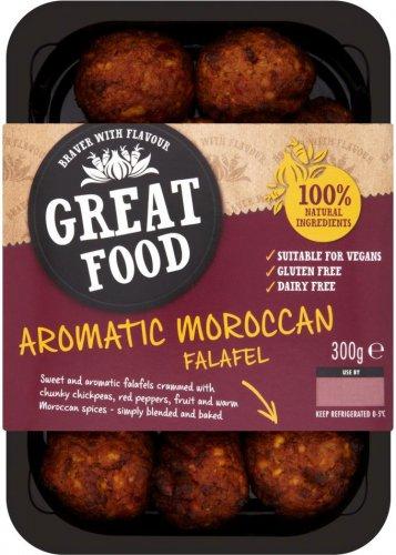 Great Food Moroccan / Mediterranean Falafel 300g was £2.74 now 2 packs for £3.00 @ Morrisons