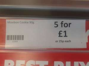Maxibon Cookie 5 for £1 instore @ Heron