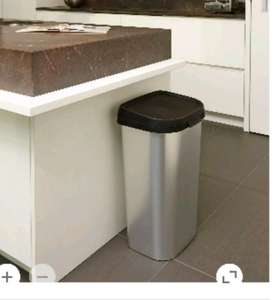 Curver Mistral 50L Chrome Effect Plastic Touch Top Bin £10 C+C @ B&Q