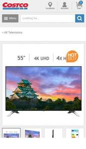 Toshiba 55U6663DB 55 Inch 4K Ultra HD TV | All Televisions | Televisions | Electronics & Computers | £499.99 @ Costco