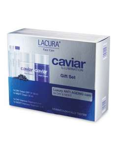 Lacura Caviar Face Cream Gift Set £12.99 at Aldi with Free Delivery - Mothers Day's looming!