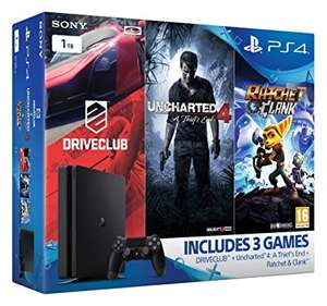 Sony PlayStation 4 1TB Slim (Uncharted 4, Ratchet and Clank, DriveClub) £176.12 @amazon warehouse