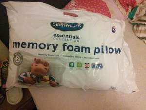 B&m in store: silent night memory foam pillow 3.99