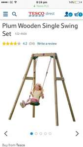Plum single wooden garden swing set £30 back in stock on Tesco direct.  Free c&c or £3 standard del.