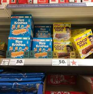 Rice Krispies & Coco Pops bars 6 pack 50p at Tesco in store