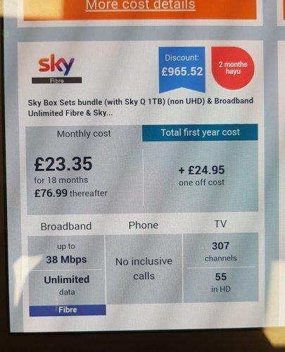 Sky Box Sets bundle + Unlimited Fibre only £23.35/month @ Carphone Warehouse - £420.30