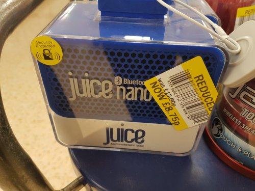 Juice nano speaker £8.75 instore @ Tesco
