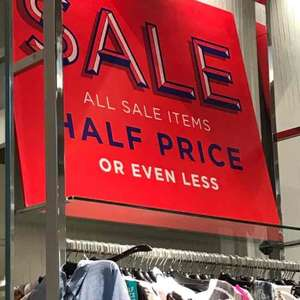 Half price sale items at NEXT Westfield Stratford Shopping Centre