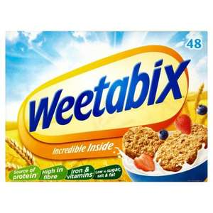 Weetabix 48 pack for £3 @ Morrisons