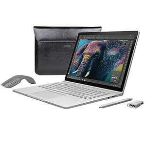 Microsoft Surface Book, Intel Core i5, 8GB RAM, 256GB with Arc Touch Mouse, Surface Pen Tip Kit and Maroo Marbled Leather Sleeve £1499.95 @ John lewis