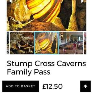 Stump Cross Craverns Family Pass half price £12.50 @ Radio Aire