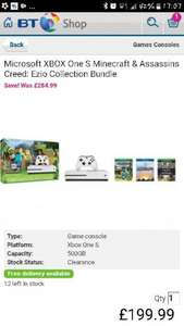 Xbox one s bundle £199 @ Bt shop