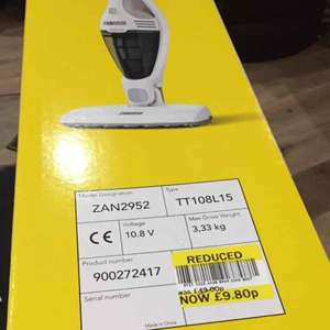 zanussi 2in1 cordless stick vacuum reduced to 9.80 instore at Tesco Enfield, EN3 4DP (likely to be local only)
