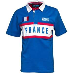 3 x Rugby World Cup Mens France Short Sleeve Rugby Jersey Royal £4.50 @ MandM Direct
