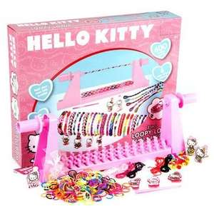 Hello Kitty  Loopy Loom Band And Braid Set - 600 Loom Bands £1 + delivery £4 @ tesco via The Entertainer