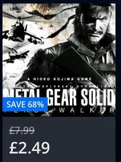 PS Vita Metal Gear Solid: Peace Walker £2.49 @ PSN Store