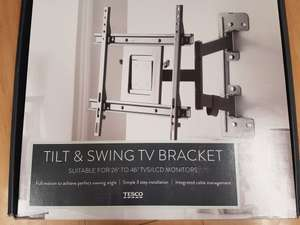 TV Tilt and Swing Bracket Reduced from £70 to £18 at Tesco