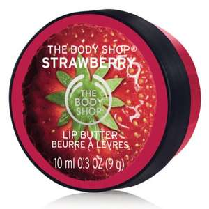 Free Body shop 10ml lip butter worth £4.50 with o2 priority moments