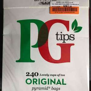 PG tips 240 bags was £6.86 now £1.64 instore @ Co-op