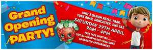 Smyths Toys Store Party Events at Gloucester, Blackpool, Doncaster and Tamworth! FREE Face-painting, Candy Floss, Balloons, Live DJ and meet special Character Guests and easter egg hunt!