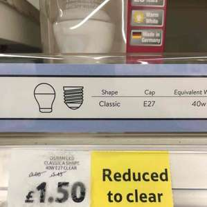 OSRAM LED bulbs all reduced from £9 to £1.42 / £1.50 @ Tesco Leeds Seacroft extra