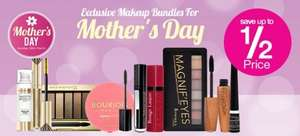 Mother's Day Make up bundles eg Rimmel bundle £10 but worth £21.18, Bourjois bundle £12 worth £26.97 & Max Factor £20 worth £35.97 plus free delivery @ Superdrug